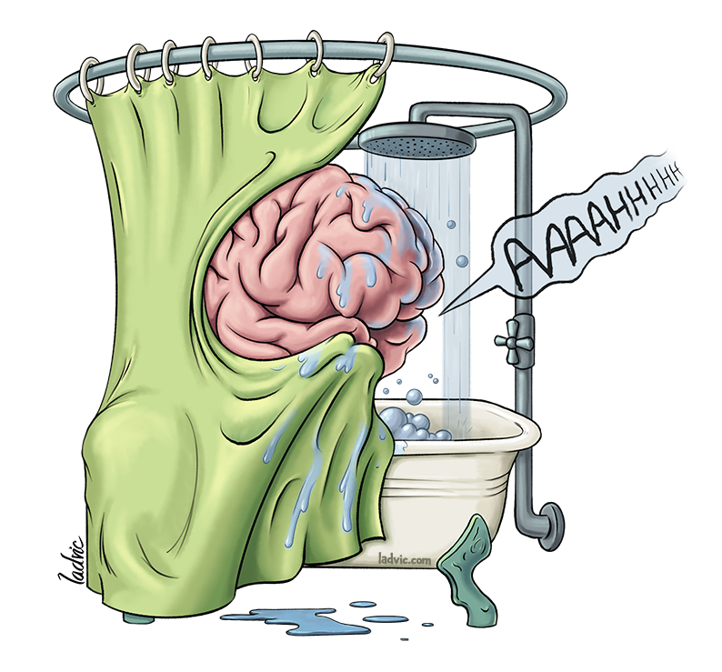 Cartoon for a series of posts about History of Neurosciences.