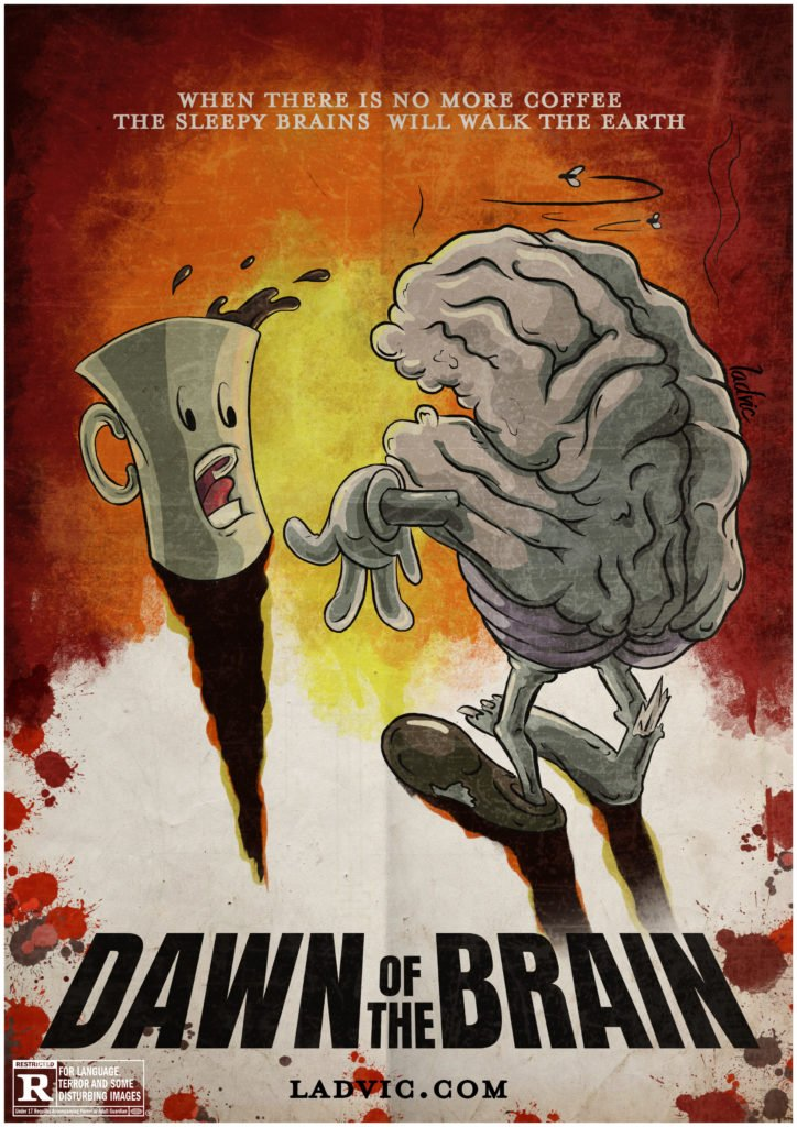 Dawn of the Brain. Spoof movie poster idea.