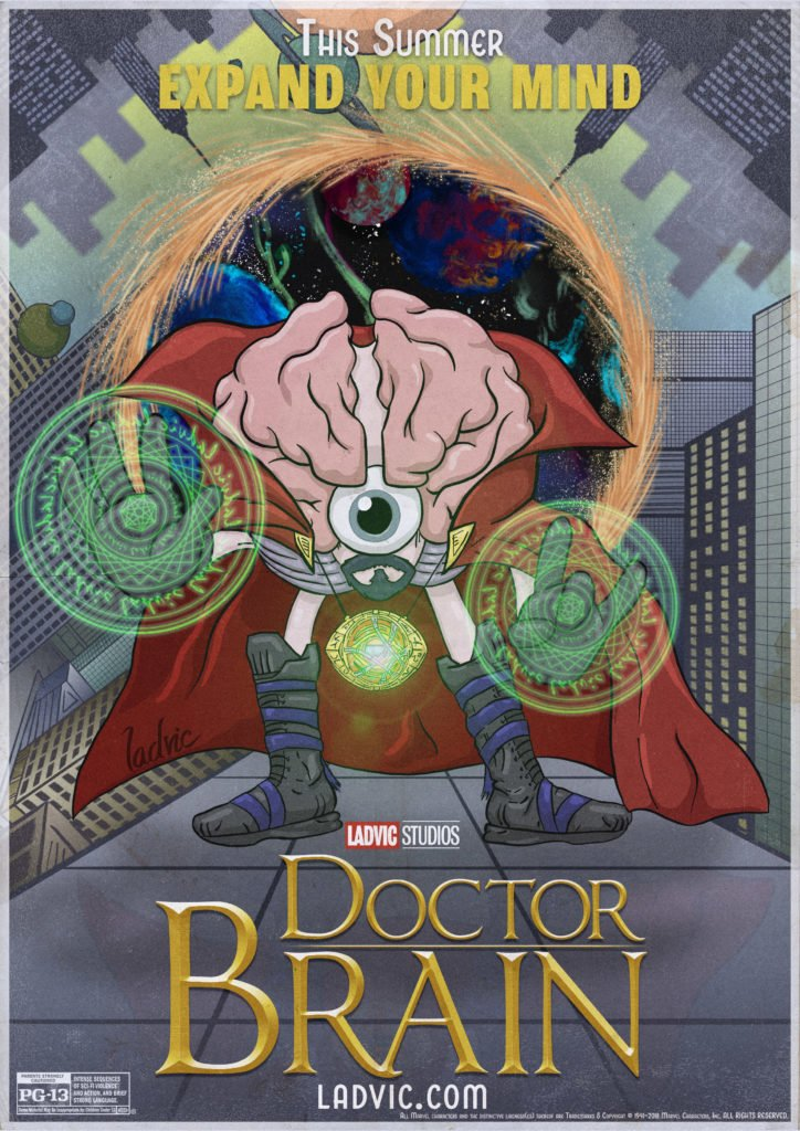 Doctor Brain. Spoof movie poster idea.
