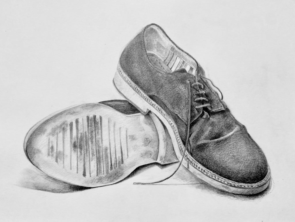 Graphite drawing. Size 29,7 x 42,0 cm.