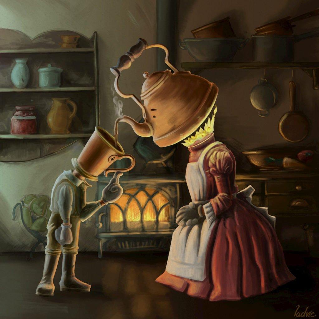 Madame Café. Digital art.